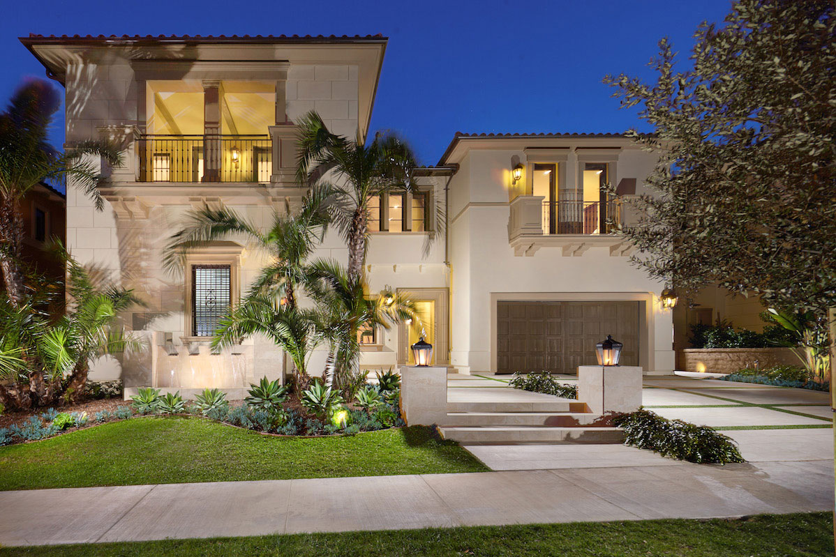 Front view of home located in Newport Coast, California
