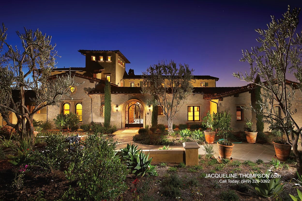 Jacqueline thompson sells shady canyon home for Tuscan luxury homes