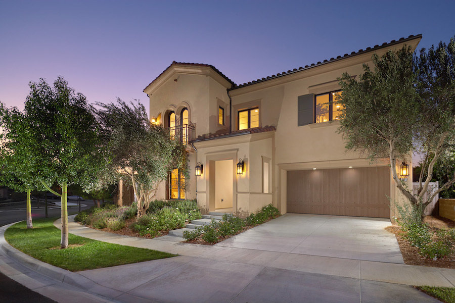 Front view of home located in Hidden Canyon, Irvine California.