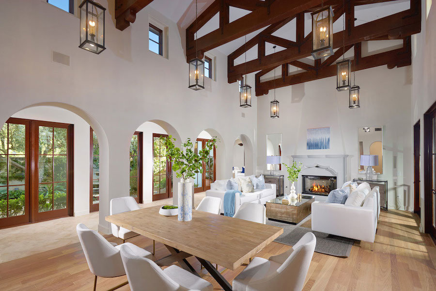 Shady Canyon Family Room with Fireplace