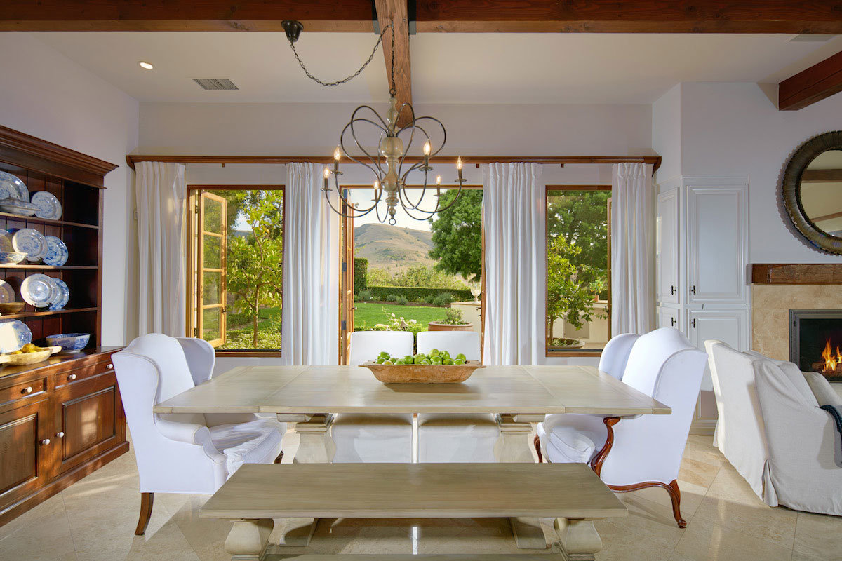 Formal dining  with view of backyard