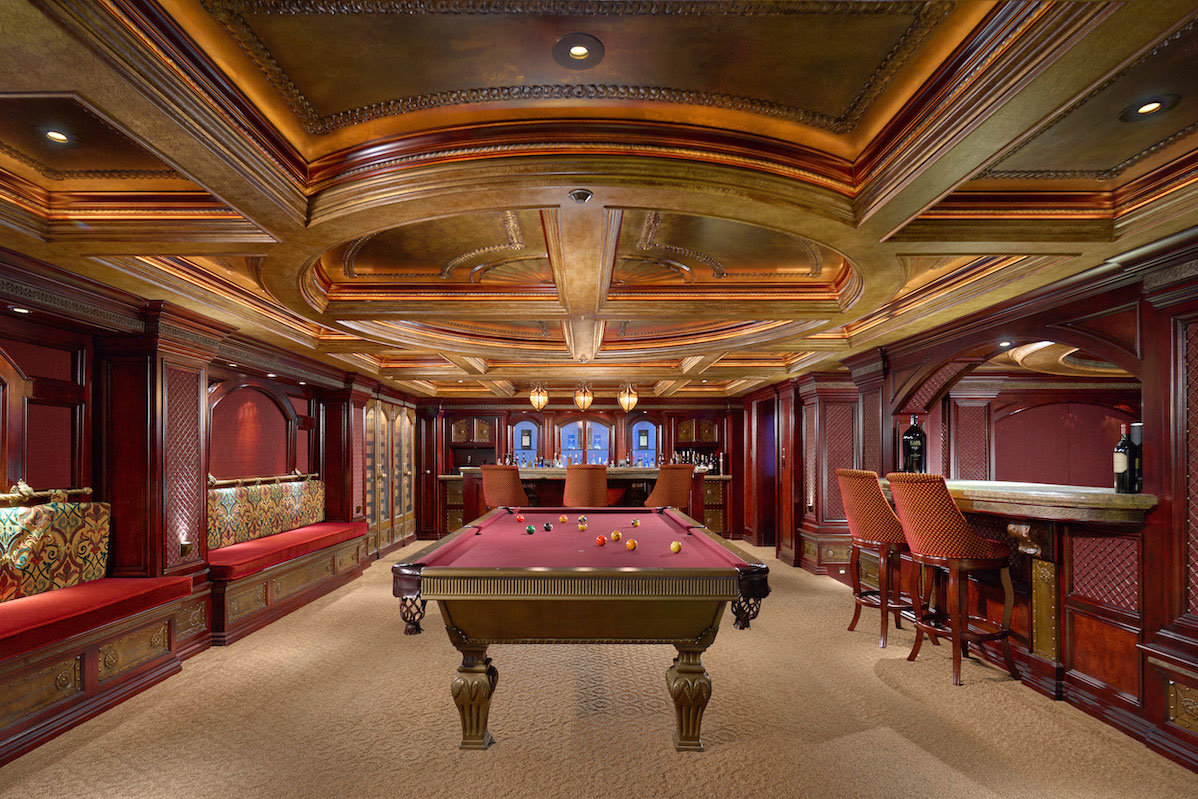 Billiards and bar room