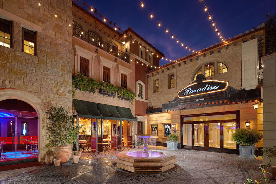 Plaza evening photo of 6 Shoreview located in Pelican Point, Newport Beach California.