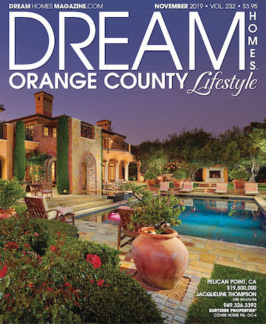 Dream Homes Magazine Front Cover of 6 Shoreview located in Pelican Point, Newport Beach California.
