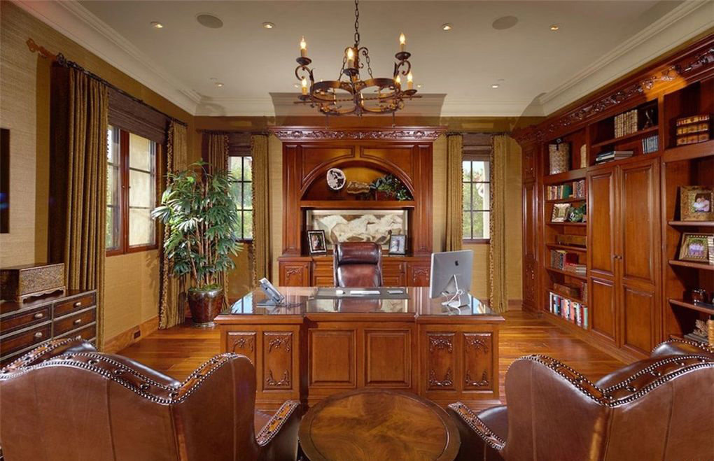 Shady canyon home library